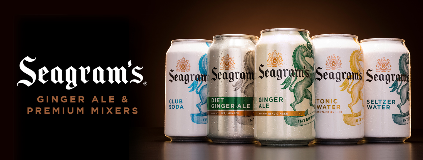 Seagram's Ginger Ale & Premium Mixers available on Saucey